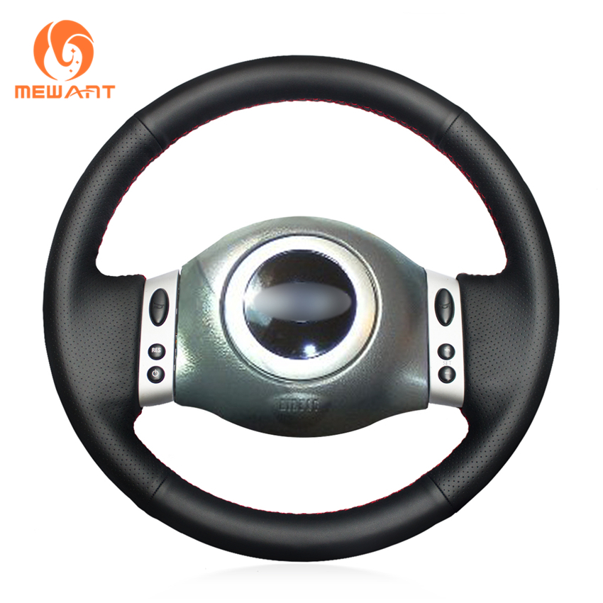 MEWANT Black Artificial Leather Car Steering Wheel Cover for Mini Coupe 2001 2006