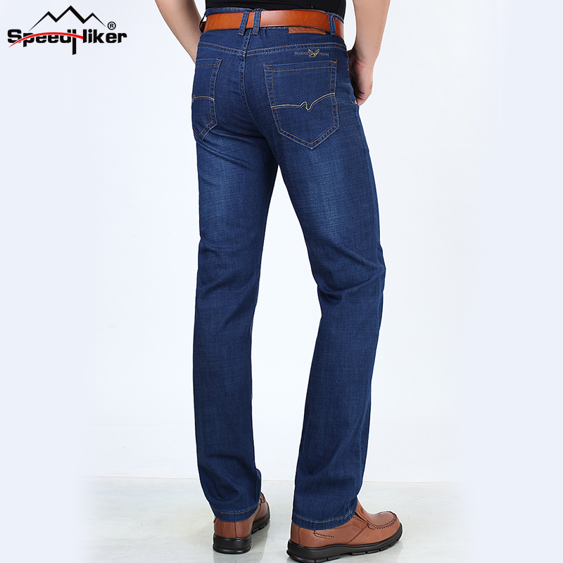 Speed Hiker 2017 Men Jeans Size 30 to 42 Blue Stretch Denim Slim Fit Men Jean