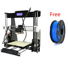 Anet A8 Prusa i3 Reprap 3D Printer High Precision Impresora 3D DIY Printer Kit 1KG Filament Freely Easy Assemble Imprimante 3d