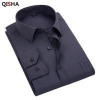 2016 New Men S Shirt Solid Color Cotton Linen Soft Comfortable Breathable Chemise Homme Male Business