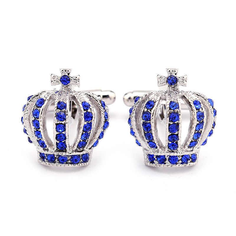 Dongsheng новый дизайн корона форма мужские Запонки кристалл мужские s рубашки застегнуть манжеты роскошные аксессуары для мужчин ювелирные изделия-40