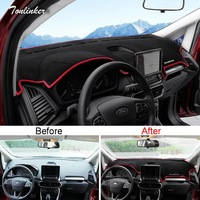 Tonlinker Cover Case Stickers For Ford Ecosport 2018 Car Styling 1 PCS Polyester Car Dashboard Anti