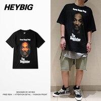 Rapper Men HEYBIG Version Swag Tee Short Sleeve Hiphop T Shirts American Fashion West Coast Hot