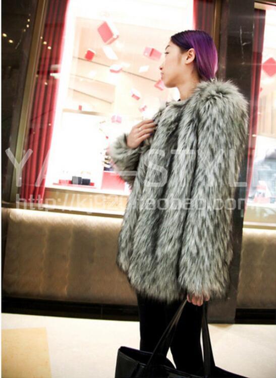 Gris Mode Chaud 6xl Veste 2019 Et Fourrure De Femmes Imitation D'hiver Gamme Automne Grande Renard S Manteau Haut Taille Nouvelles Fumée gPvwZRg