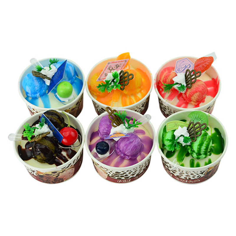050 Simulated ice cream imitation paper cup ice cream fake fruit cake model dessert shop decorative photography props in Artificial Foods Vegetables from Home Garden