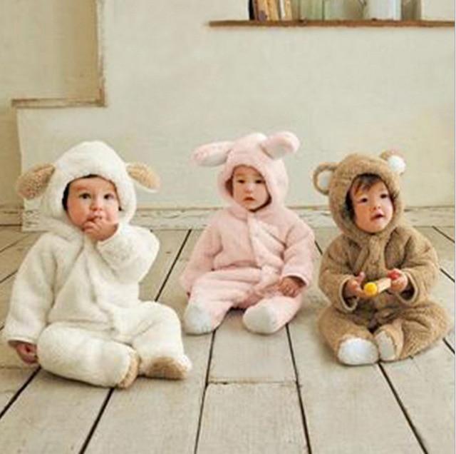 Mamelucos del bebé 2016 nueva ropa de invierno caliente