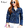 BF Style Denim Jacket Women Spring Jean Jackets Long Sleeve Fashion Casual Overcoat Short Jeans Coat Plus Size Chaquetas Mujer