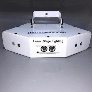 Image 3 - 6 oczy laserowe skanowanie światła DMX512 RGB pełny kolor światło laserowe liniowe + efekt obrazu oświetlenie sceniczne 6 obiektyw skaner laserowy sprzęt DJ