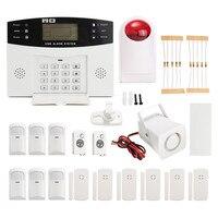 NUOVO LCD Wireless GSM Composizione Automatica Per La Casa Casa Ufficio Scassinatore di Sicurezza Antintrusione Allarme DC12V 500mA Qualità Durevole