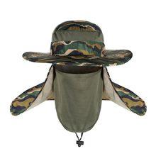 Camuflaje verano sombreros de sol de las mujeres de los hombres de  jardinería senderismo cabeza cara Protector neto cubierta Cam. c1e5a29e397