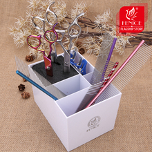 Fenice Hairdressing Scissors Holder Comb Clamps Stand Kit tool Scissors Hair Clips Box Organizer Salon Styling Tool Accessories