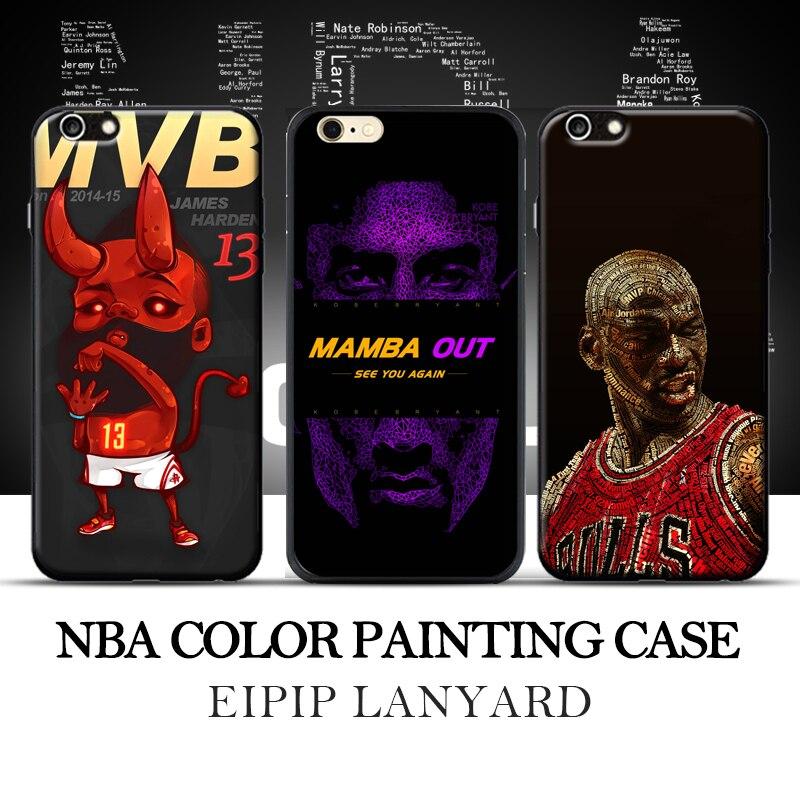 <font><b>NBA</b></font> Майкл Джордан Коби Брайант Джеймс Харден Трейси Макгрейди Телефон чехол для <font><b>iPhone</b></font> 5S 5 6 S 6 6 плюс 7 8 7 плюс мягкий край твердый переплет