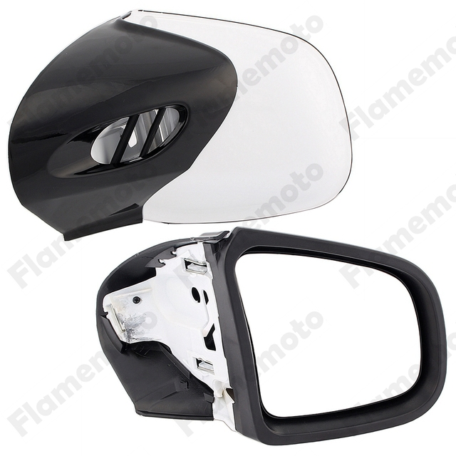 For BMW K1200 K1200TL K1200M 1999-2005 Universal Black Motorcycle Mirror Side Rearview Mirrors Retroviseur Moto UNDEFINED