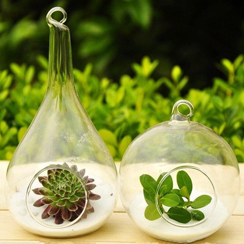 Zakka модный дизайн стеклянной вазе домашнего декора ваза для цветов можно повесить творческое начало украшения цветок panters горшки