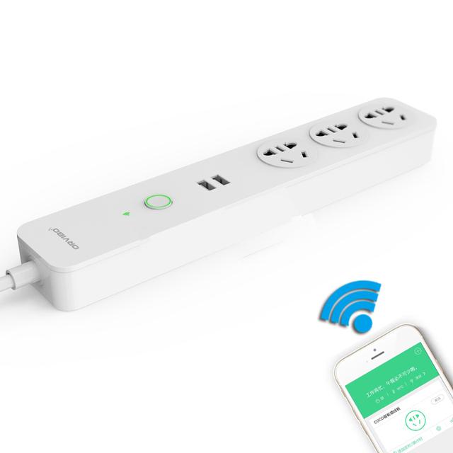 Alta calidad smart wi-fi extensión socket 2 usb socket orvibo enchufe con toma de regletas au estándar wifi uso casero