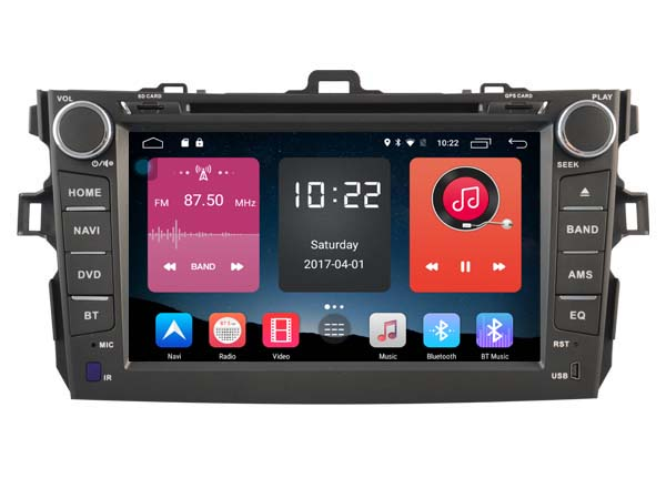 4G lite 2GB ram Android 6.0 quad core car dvd player stereo autoradio gps tape recorder for toyota corolla 2010 2011 head units