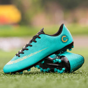 a831a20bd79 CR7 Women Men Soccer Shoes TF Turf Football Sneakers Sport Ronaldo  Breathable Mesh