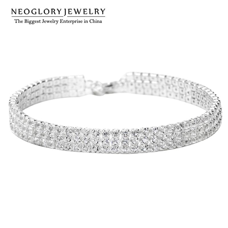 Neoglory charme perlen wickelkette armreifen & armbänder mädchen trendy mode braut hochzeit snaps modeschmuck 2017 wedj w