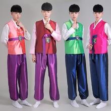 Corea nuevos hombres Ropa para Hombres Demostración de la Etapa Del Traje Hanbok Coreano Hanbok Tradicional Juego de Danza Traje de la Danza Russe