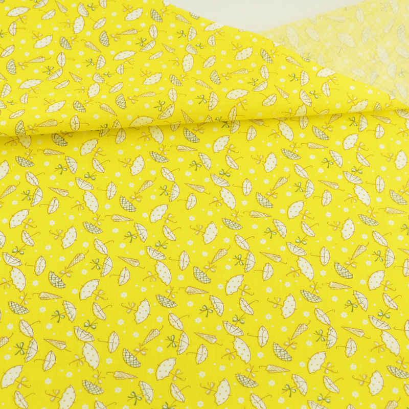 2016 الوافدين الجدد المطبوعة جميل مظلة تصميم الأصفر الدهون الربع القطن النسيج المنسوجات المنزلية ل خليط دمية تخصص الملابس Cafts