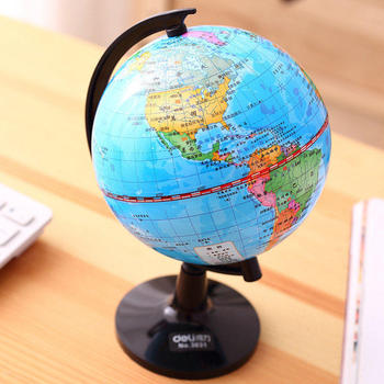 3032 student globe teaching edition 14.2cm children's standard learning world topographic map image
