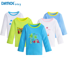 1T-5T Cotton Girl T Shirt Children Carton Boys Long Sleeve Tops Girls T-shirt Boys Shirts Boys Tops Children Clothing Y0184