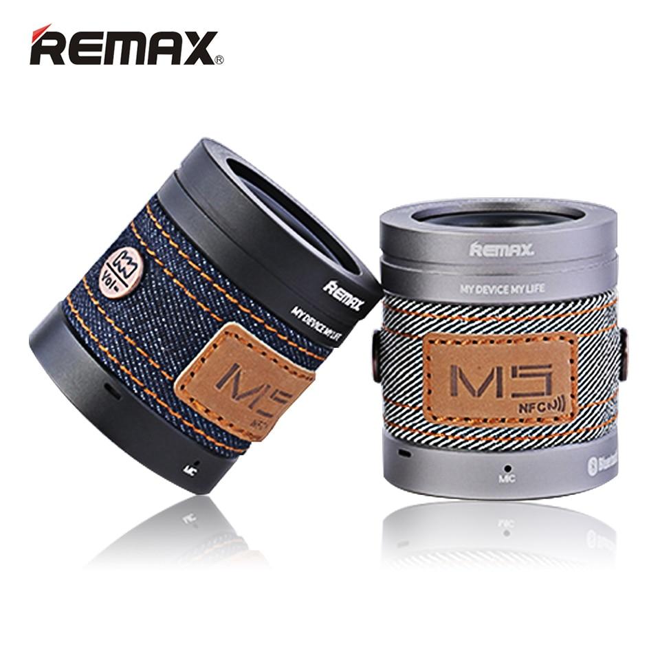 Original REMAX Speaker bluetooth mini Portable wireless Cowboy Style Music Smart NFC Aluminum alloy RB M5