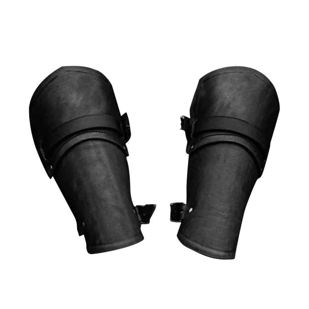1 زوج تأثيري الدعائم فو جلدية واسعة متشط الدانتيل يصل الذراع درع صفعة سلسلة Steampunk من القرون الوسطى القفاز معصمه