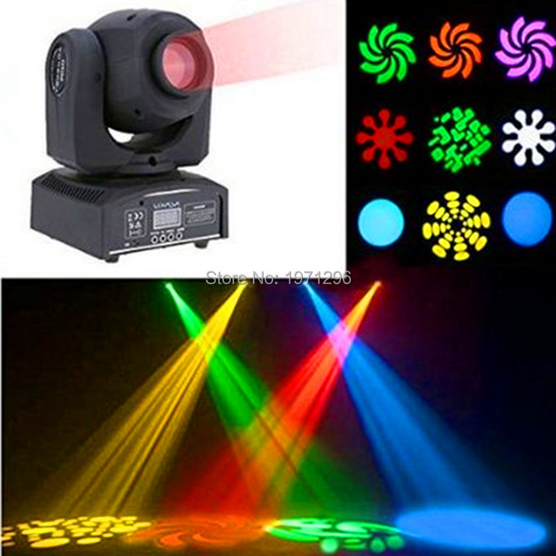 10W LED Stage Light DJ RGBW Moving Head Spot Gobos Beam Lighting for Home Garden Party Christmas Wedding... freeshipping 2 mtr x 4 mtr p18 matrix led rgb dj party garden star video curtain backdrop for home garden birthday party