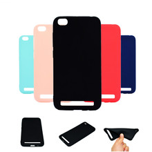 Xindiman TPU phone back cover for xiaomi redmi5A case 5.0inch candy color matte plain silicone coque