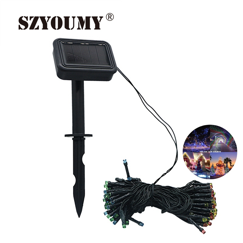 SZYOUMY Private Model 12M 100LED Solar Strip Light Outdoor Christmas Trees Led String Fairy Light Waterproof For Garden Garland