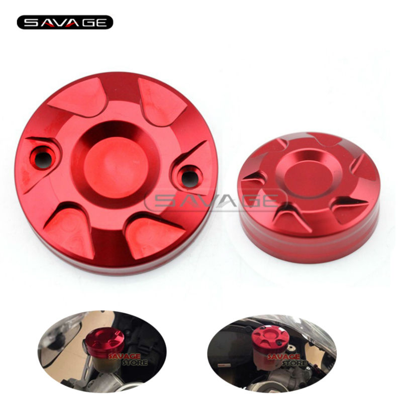 For Ducati Hypermotard 1100 2007-2012 Motocycle Accessories Front Clutch & Brake Cylinder Fluid Reservoir Caps Cover motocycle accessories front
