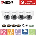 Tmezon 4*1200TVL 48 Leds CCTV Dome Camera Indoor Outdoor 3.6mm Day Night Vision 130ft Home Security Surveillance