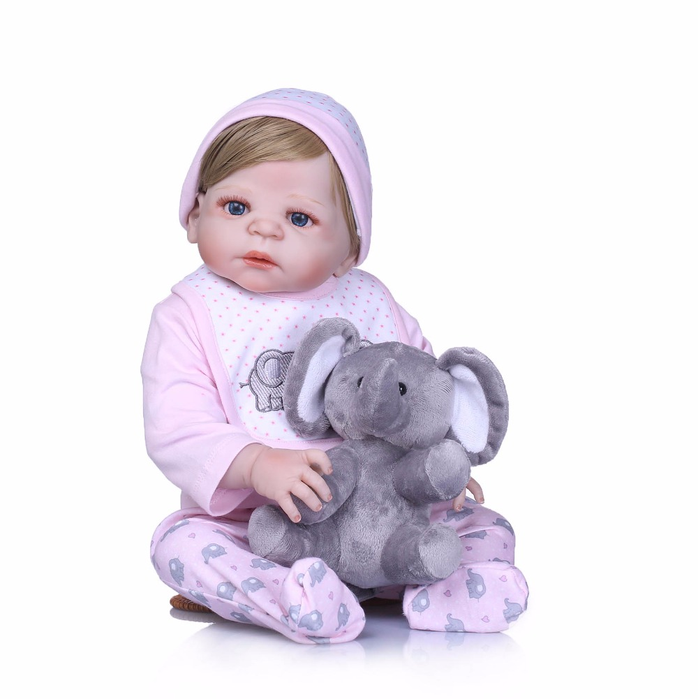 все цены на NPK Boneca Reborn 22inch full Silicone Vinyl Dolls 55cm Reborn Baby Doll Newborn Lifelike Bebe Reborn Dolls gifts for girls онлайн