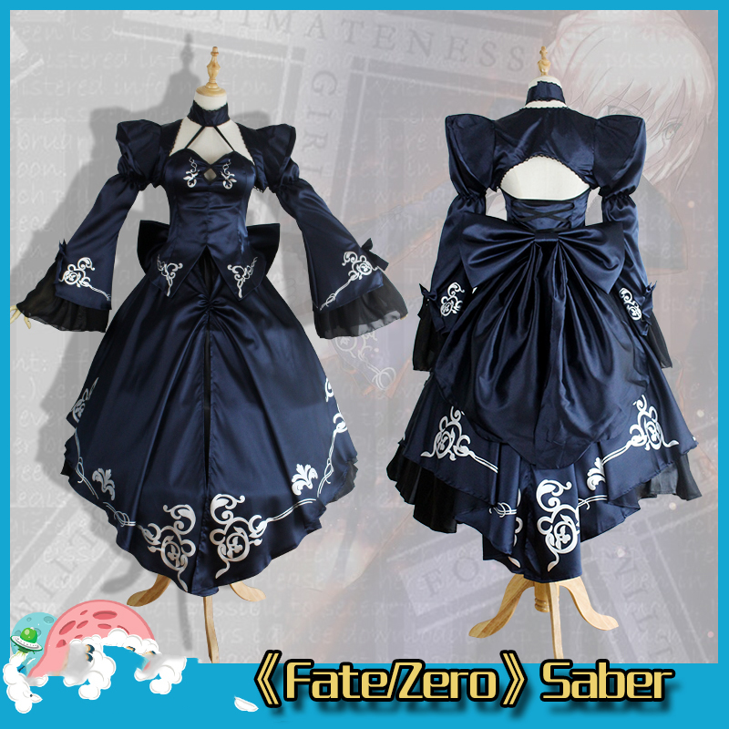 fate saber cosplay fate zero stay night Nalter saber costume 2nd Arturia Pendragon black girl costume rolecos japanese anime fate stay night altria pendragon cosplay costume fate zero saber arturia pendragon cosplay costume