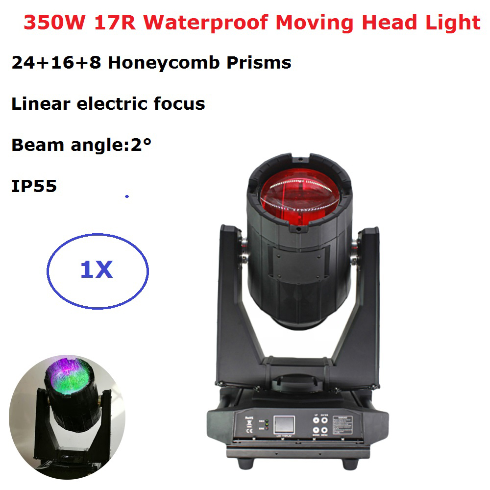 IP55 Waterproof Beam Lights Outdoor Lighting Sky Moving Head Light 350W 17R Wedding Stage Dj Equipment