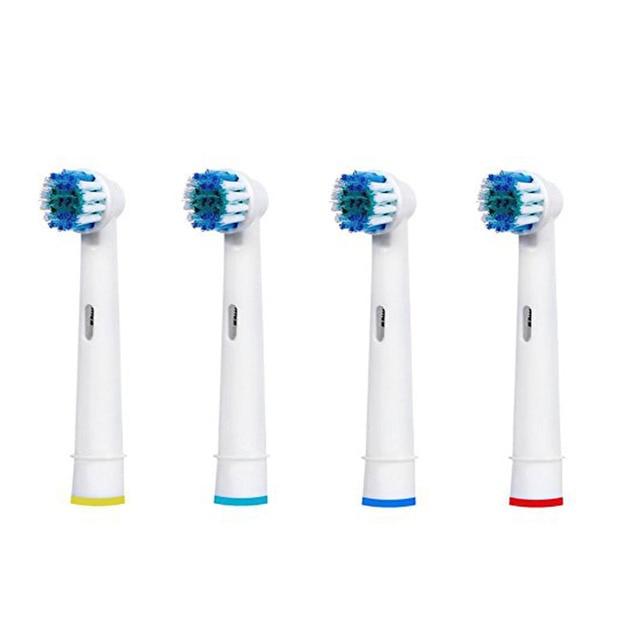 4 шт. СО-17A Замена Электрическая Зубная Щетка Для Braun Oral B Зубная Щетка Глав Vitality 3D Белый Точность Чистота Гигиены Полости Рта