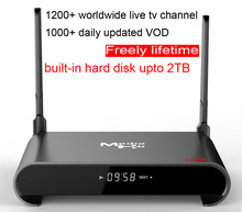 30pcs H2 Custom Made Rockchip RK3229 Quad core Smart Android7.1 LIVE TV Streaming Box 2GB 16GB MediaHub 1200+ live tv 1000+ VOD