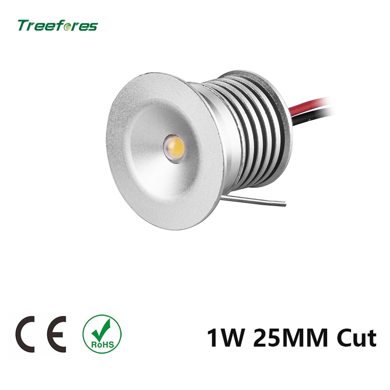 DC12V LED 1W 15MM 25MM Cut LED Downlight Sample Round Aluminum Mini Ceiling Spot Outdoor Garden Gazebo Lighting Bathroom Lamp