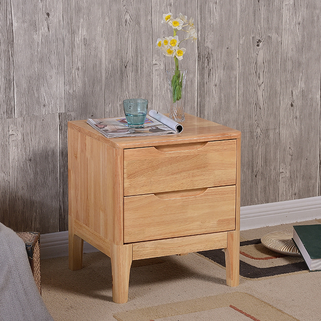 Bedroom Furniture Simple Modern Apartment Cabinets Are Woodes Lockers Rubber Wood Bedside Nightstand Solid