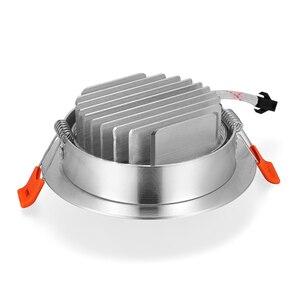 Image 4 - 1x3W 5W 7W 12W 220V 높은 전원 LED 통 Recessed LED 스포트 라이트 램프 알루미늄 전구 거실 침실 조명