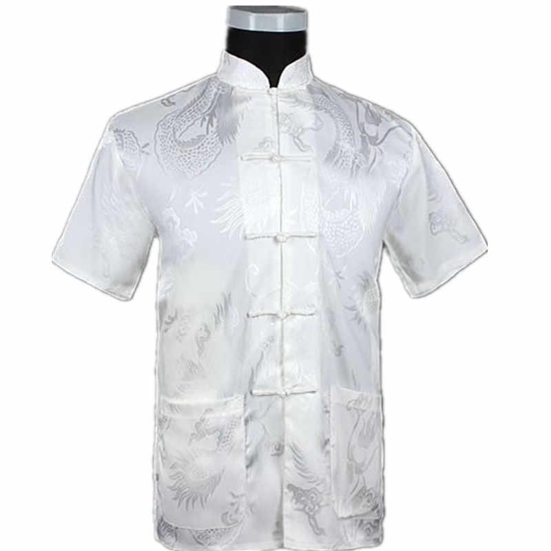 ブルゴーニュ中国男性の夏のレジャーシャツ高品質シルクレーヨンカンフー太極拳シャツプラスサイズ ML XL XXL XXXL M061308