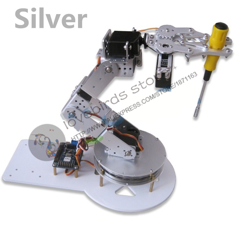 6 DOF Aluminum robotic arm with Swivel base Arduin o experimental teaching manipulator frame high-performance servo TR213 TR205 цена