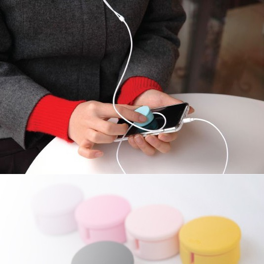 2016 Earphone Holder Mouse Bungee Earphone Winder Cute Candy Colored Headphone Winder Wipe The Phone Screen