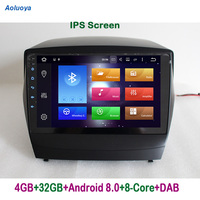Aoluoya IPS 4GB RAM 32G ROM Octa Core Android 8.0 CAR DVD player For Hyundai IX35 IX 35 2009 2015 Radio GPS Navigation WIFI DAB