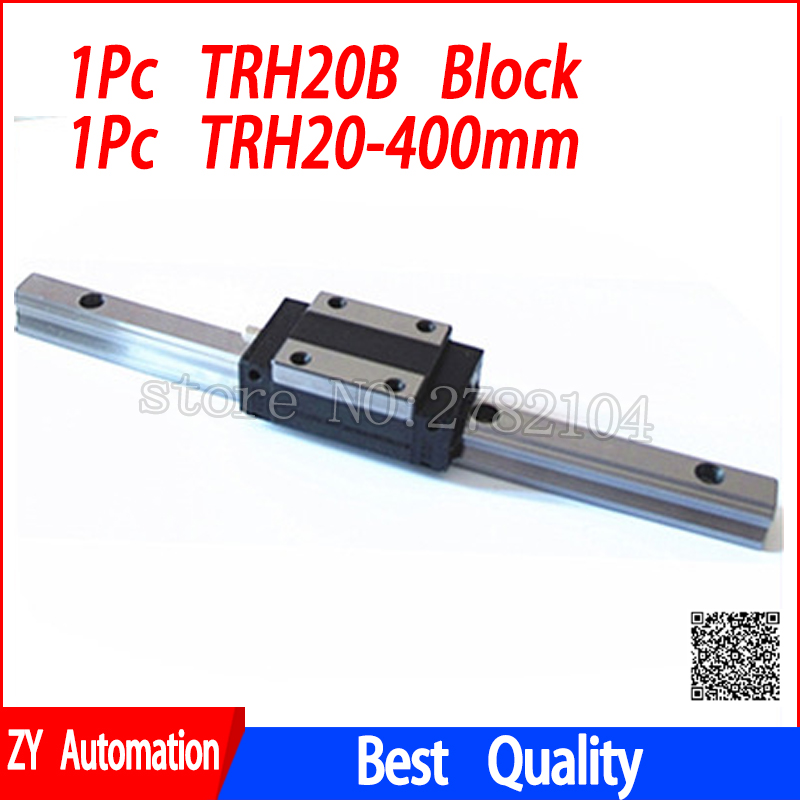 цена на New linear guide rail TRH20 400mm long with 1pc linear block carriage TRH20B or TRH20A CNC parts