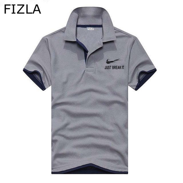 Newest JUST BREAK IT Brand Clothing Male Fashion Casual polo shirt men Solid  Tee Shirt Tops High Quality Slim Fit polo homme