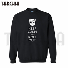 TARCHIA 2019 European Style fashion free shipping men hoodies keep calm and roll out crew neck
