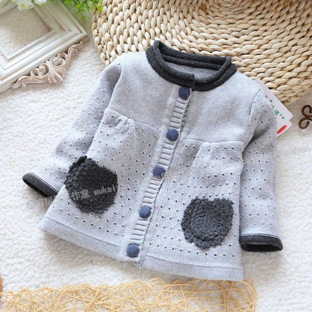 2016 new design children girl sweaters cotton long sleeve Knitted Sweater Kids Spring Baby Clothing Girls Cardigan