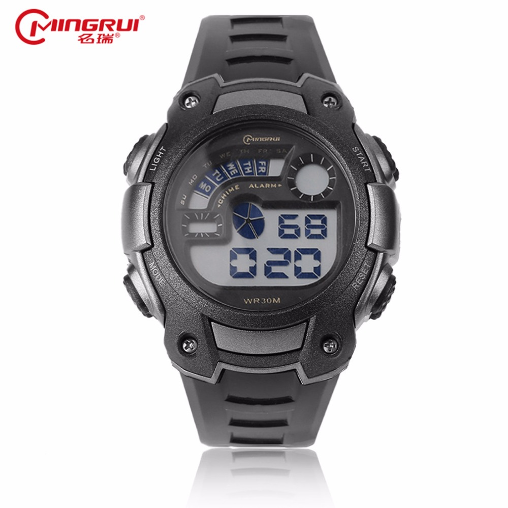 Mingrui sports watches men famory fashion analog led digital electronic watches waterproof outdoor wristwatch